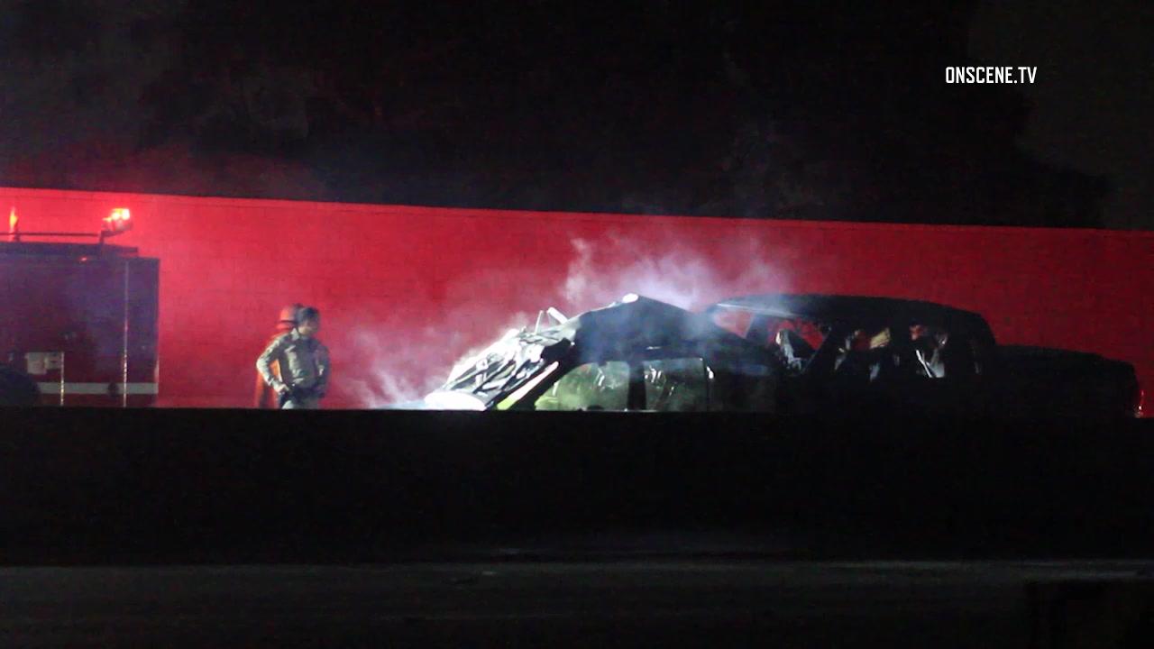 Woman burns to death in fiery 405 Freeway crash - MyNewsLA com