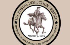 Logo of U.S. Postal Inspection Service. Image via postalinspectors.uspis.gov