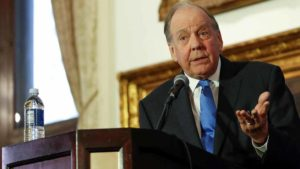 Thomas A. Demetrio, Chicago Aviation Attorney and Co-founder of Corby & Demetrio who represents Dao family, speaks during a news conference at Union League Club in Chicago. Photo by Kamil Krzaczynski via Reuters