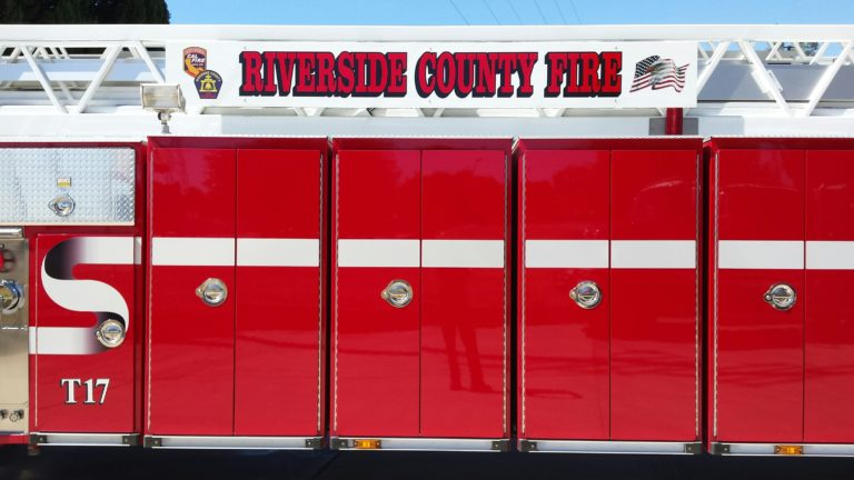 A Riverside County Fire Department truck. Photo courtesy City of Jurupa Valley.