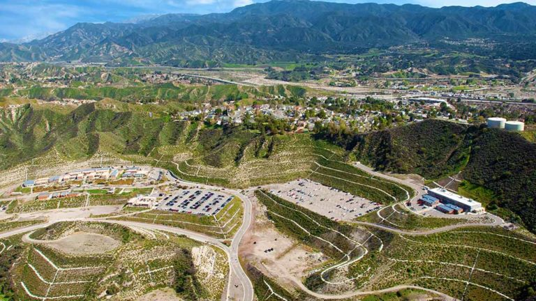 Aerial photo of Canyon Country campus of College of the Canyons. Photo via