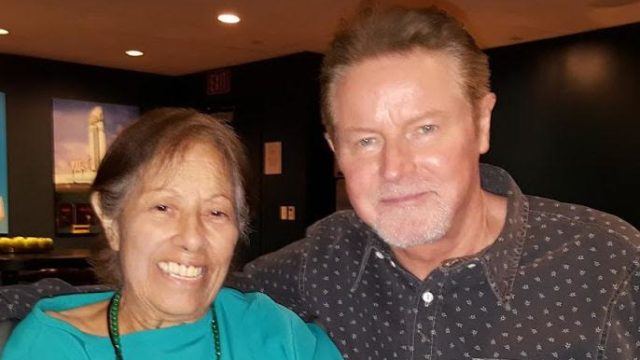 Lucy Casado with Eagles star Don Henley.