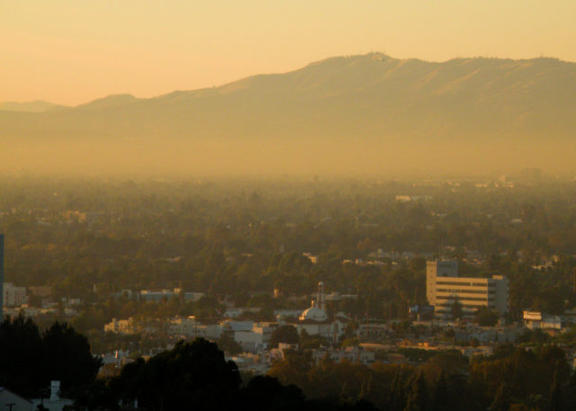 Smog in San Fernando Valley