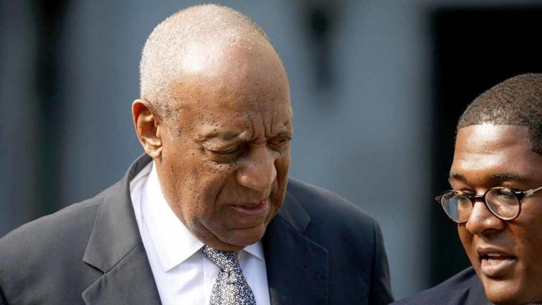 Actor and comedian Bill Cosby  arrives with spokesman Andrew Wyatt for the fourth day of his sexual assault trial at the Montgomery County Courthouse in Norristown, Pennsylvania, U.S. June 8, 2017.