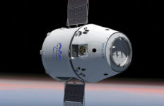 A SpaceX Dragon spacecraft in orbit. Courtesy SpaceX
