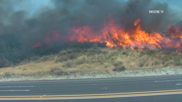 Raging Santa Clarita Brush Fire Forces Mandatory