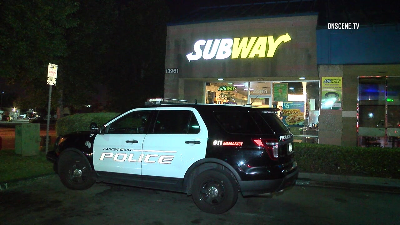 Armed robbery at garden grove subway sandwich shop Garden grove breaking news now