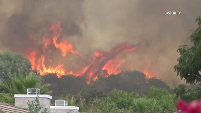 The Rose Fire in Lake Elsinore