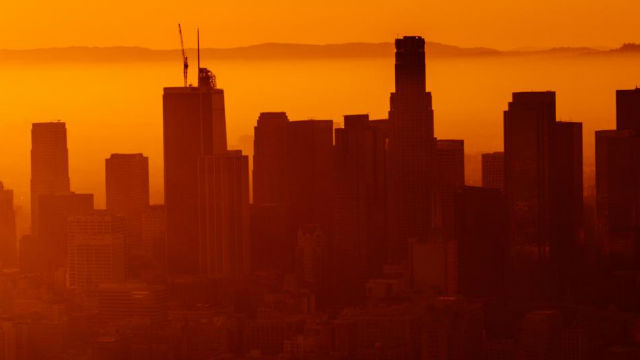 Downtown Los Angeles in the heat