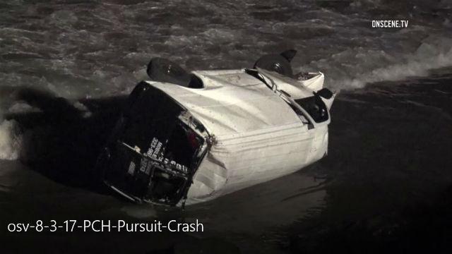 pacific coast highway van crash