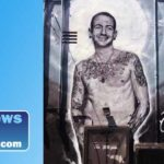 Chester Bennington mural by Jonas Never.
