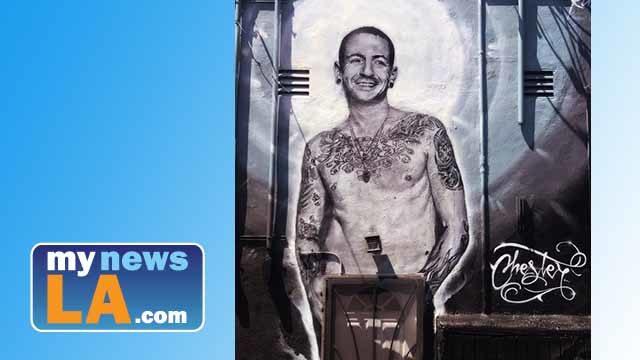 Chester Bennington mural by Jonas Never.