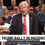 Alec Baldwin impersonates President Trump at Phoenix rally.