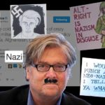 Collage of references to Steve Bannon as Nazi.