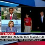 CNN coverage of Barron Trump at center of fashion call-out by Daily Caller. Image via
