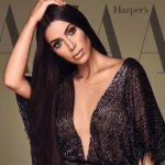 Kim Kardashian on cover of Harper's Bazaar Arabia.