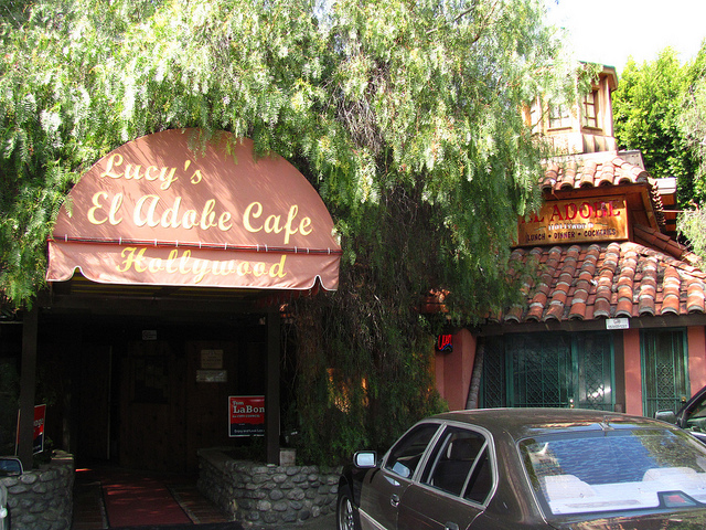 Exterior of Lucy's El Adobe in Hollywood. Photo by Loren Javier via Flicker