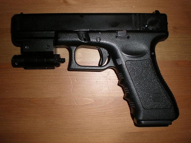 an example of a pellet gun, an Airsoft Glock