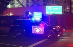 CHP cruiser blocks freeway onramp