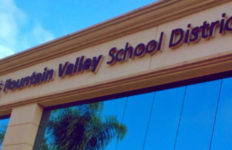 Fountain Valley School District sign