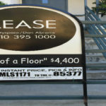 an apartment vacancy sign on the westside of los angeles