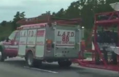 LAFD truck on Florida turnpike