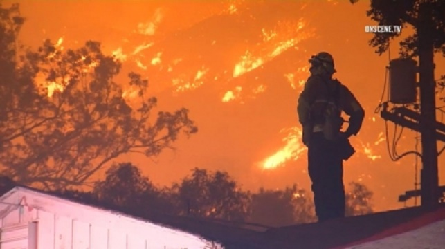 A 5800-acres wildfire burned down three homes in Tujunga, Los Angeles