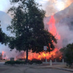 Flames in Wildwood Canyon
