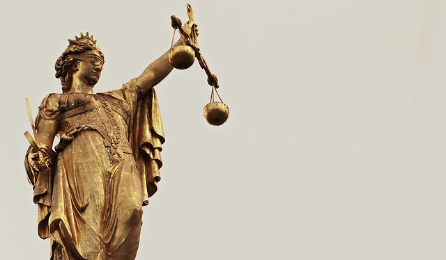 "Justitia, the Roman goddess of justice who is also known as ""Lady Justice."""