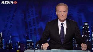 Lawrence O'Donnell hammers desk during off-air outburst Aug. 29.