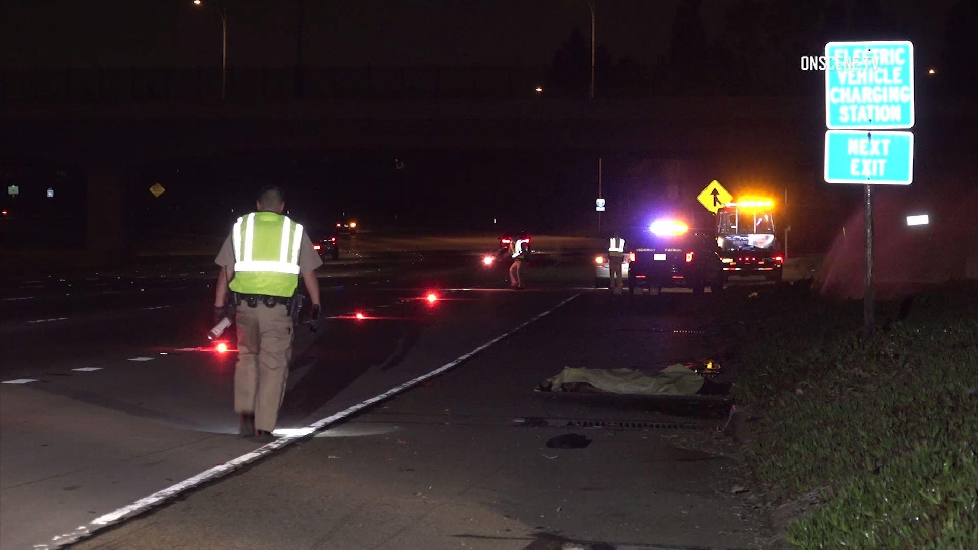 Man walking on 5 Freeway in Anaheim struck, killed