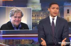 "Trevor Noah discusses Steve Bannon ancestry on ""The Daily Show."""