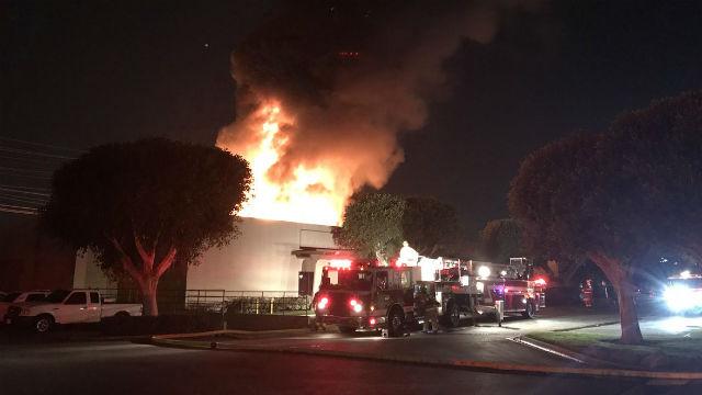 Anaheim flooring manufacturer fire