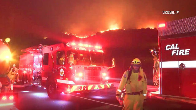 Cal Fire crew at Canyon Fire