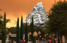 Glow from Canyon Fire 2 visible from Disneyland