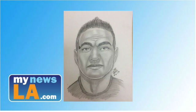 Composite sketch of a man who tried to kidnap a 12-year-old girl in Valencia.