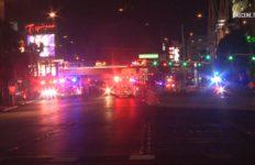 Emergency vehicles on Las Vegas strip