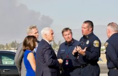 Mike Pence in OC during fire
