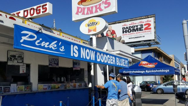 Pink's goes blue
