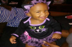 smiling one-year-old Autumn Johnson who was killed by gunfire as she lay in her crib in Compton.