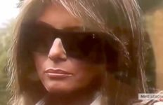 Image from video purportedly showing Melania Trump body double.