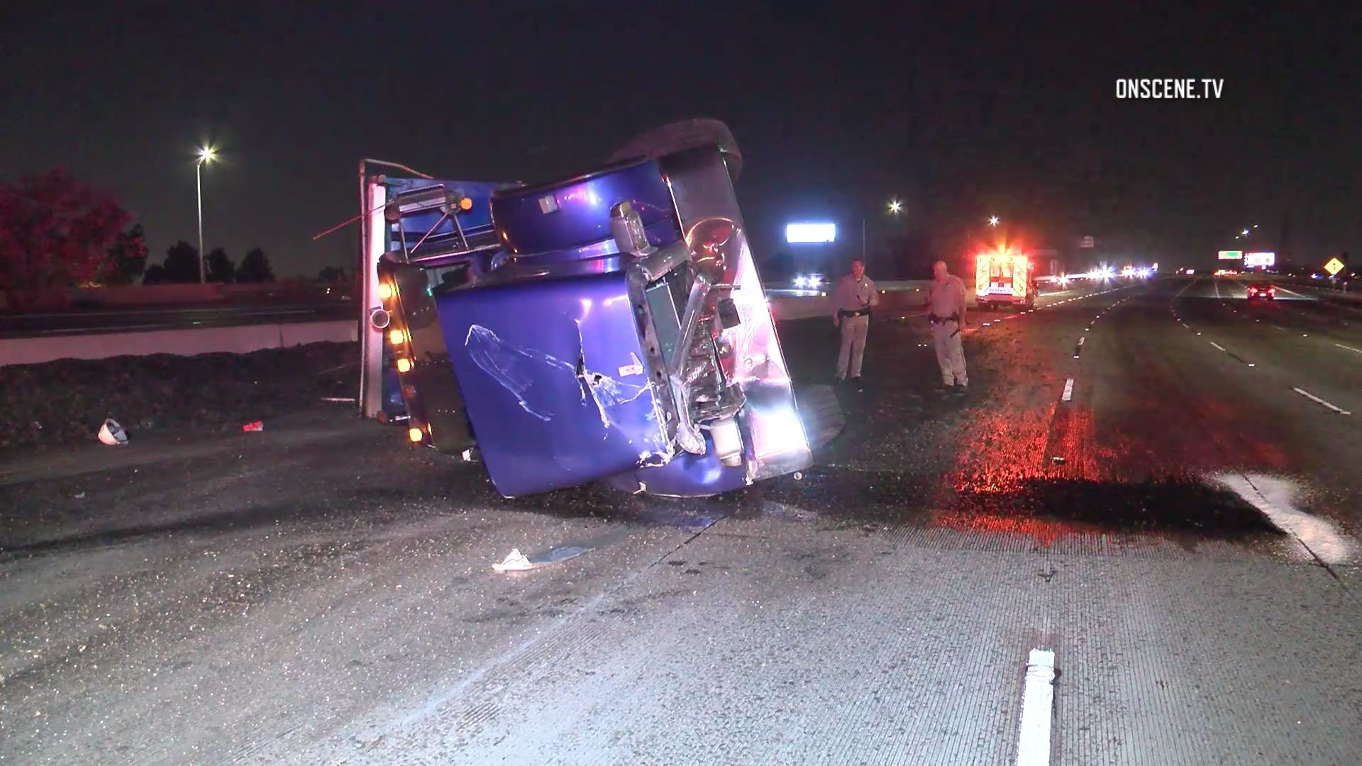Overturned dump truck in Anaheim closes down portion of 57 ...