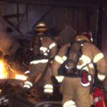 Santa Ana garage fire