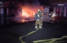 Van Nuys strip mall fire