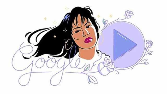 Selena Quintanilla is featured on Google homepage Oct. 17, 2017.