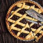 A lattice-topped fruit pie similar to the kind served at Marie Callendar's restaurants.