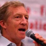 Tom Steyer at La Mesa-Foothills Democratic Club in April 2017.