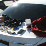 Items discovered with three burglary suspects in Burbank. Photo from Glendale Police Department.