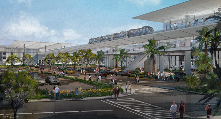 Rendering of consolidated rental car center