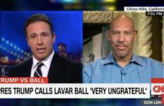 UCLA basketball dad LaVar Ball with CNN's Chris Cuomo.
